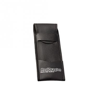 PEGASUS TUNGSTEN STEEL DARTPFEILE - 21 Gram - Black Red Dragon Shafts, Black Flights, Case & Red Dragon Checkout Card - 5