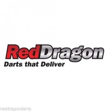 PEGASUS TUNGSTEN STEEL DARTPFEILE - 21 Gram - Black Red Dragon Shafts, Black Flights, Case & Red Dragon Checkout Card - 7