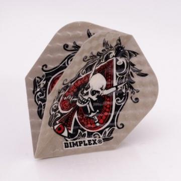 F6041 Ace Skull Dimplex Dart Flights 4 sets pro pack (12 flights insgesamt). - 1