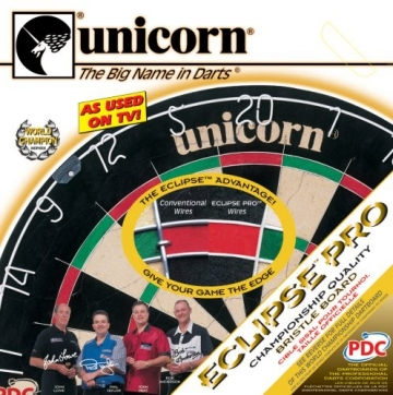 Verpackung von der Unicorn Bristle Dartboard Eclipse