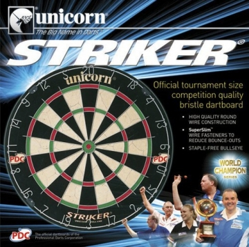 Verpackung von der Unicorn Bristle Dartboard Striker