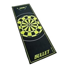 bullet hochwertige turnier dartmatte 237x80cm in gruen