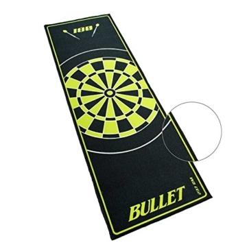 bullet hochwertige turnier dartmatte in gruen detail
