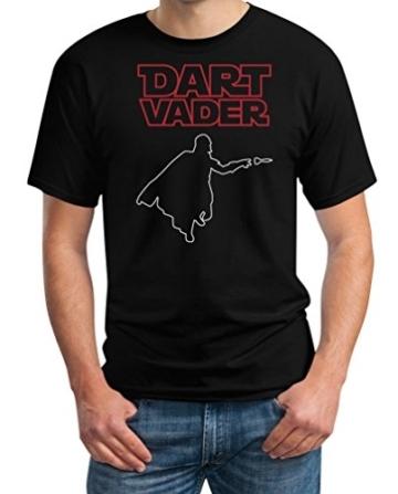 Dart Vader - Witziges Herren Dart Shirt für Darts Fans Schwarz