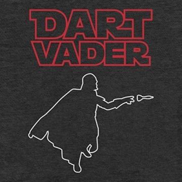 Dart Vader - Witziges Herren Dart Shirt für Darts Fans Schwarz detail