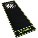 XQMax dartmatte schwarz grün 237x80cm dartteppich