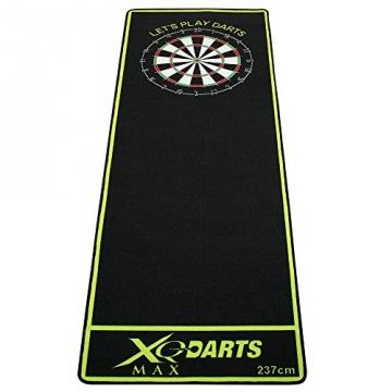 dartmatte schwarz grün 237x80cm dartteppich turnier
