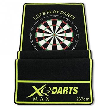 dartmatte schwarz grün 237x80cm dartteppich turnier dartmatte gefaltet