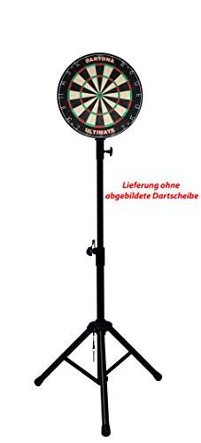 Dartona Mobiler Dartständer für Steel oder Elektronische Dartscheiben Steel Dart