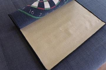 dartteppich mit aufdruck rückseite