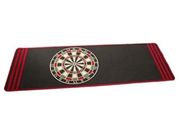 dartteppich in rot schwarz sauber gekettelt