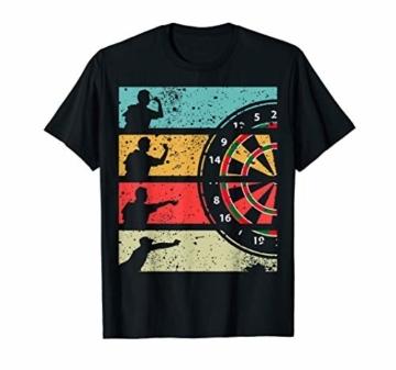 Herren Retro Dart Shirt Dartspieler wirft auf Dartscheibe