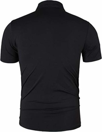 jeansian Sportswear Wicking Breathable Short Sleeve Quick Dry Polo T-Shirts rücken