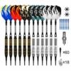 ONE80 Dartpfeile mit Kunststoffspitze 18g Softdarts 12 Stück Soft Darts Pfeile Set