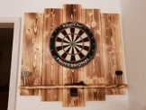 WDS Darts Sports Wooden Dartboard Surround - Premium Dart-Wandschutz