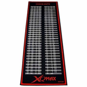 XQ-Max Turnier Dartmatte rot/schwarz Dartteppich