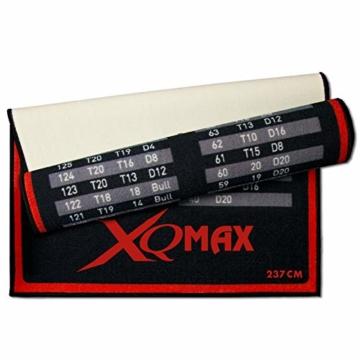 XQ-Max Turnier Dartmatte rot/schwarz Dartteppich rückseite