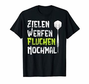 Zielen Werfen Fluchen Nochmal Lustiges Dart Geschenk T-Shirt